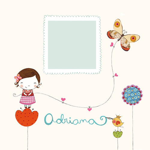 Matilde Portalés Illustration · Customized projects · New baby card · Adrinana