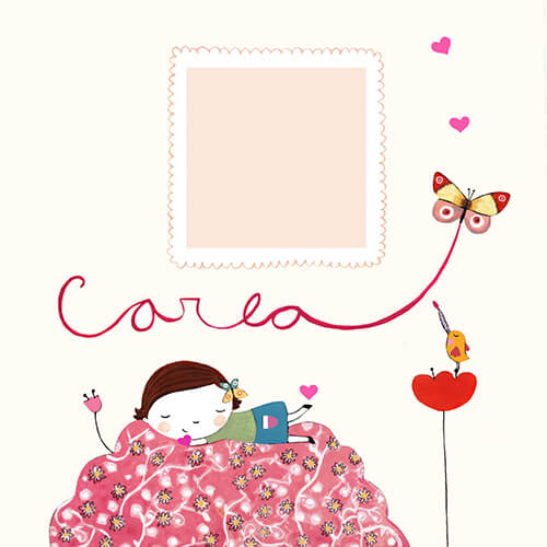 Matilde Portalés Illustration · Customized projects · New baby card · Carla