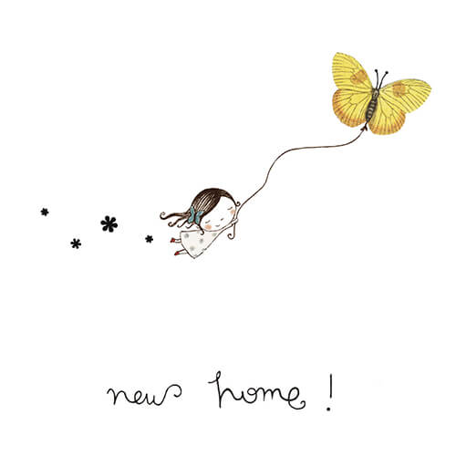 Matilde Portalés Illustration · Customized projects · New home greeting card