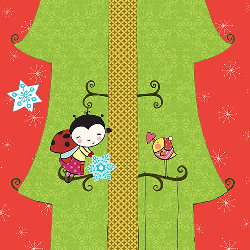 Matilde Portalés Illustration · Mini X´mas Tree 5 · Stickers Books · Imaginarium