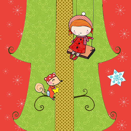 Matilde Portalés Illustration · Mini X´mas Tree 6 · Stickers Books · Imaginarium