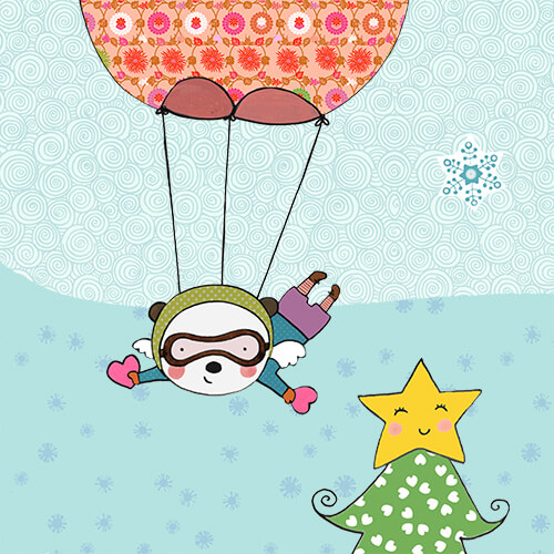 Matilde Portalés Illustration · Mini X´mas Star 10 · Stickers Books · Imaginarium