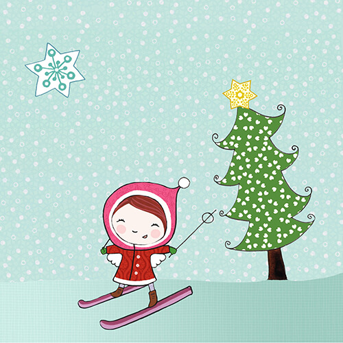 Matilde Portalés Illustration · Mini X´mas Star 3 · Stickers Books · Imaginarium