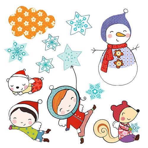 Matilde Portalés Illustration · Mini X´mas Star 5 · Stickers Books · Imaginarium