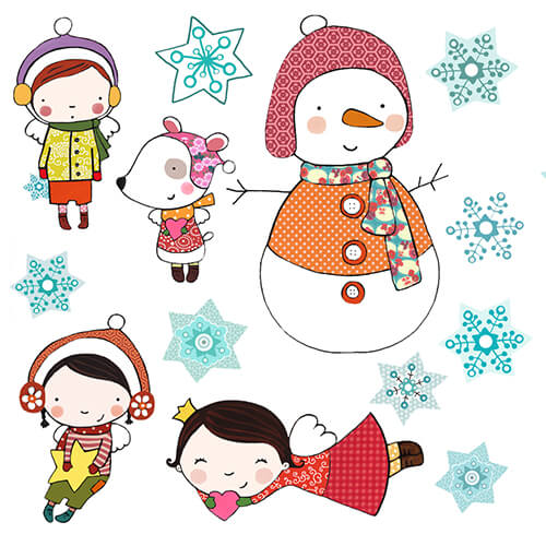 Matilde Portalés Illustration · Mini X´mas Star 6 · Stickers Books · Imaginarium
