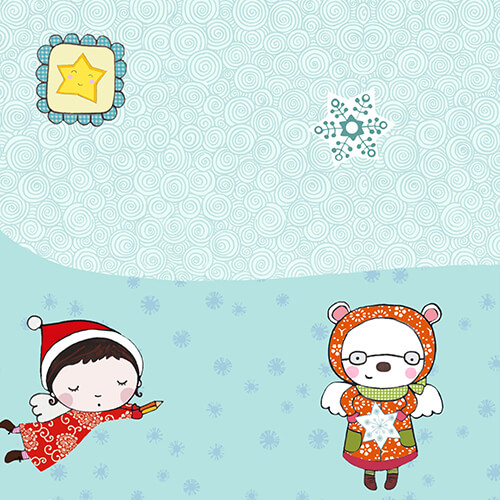 Matilde Portalés Illustration · Mini X´mas Star 8 · Stickers Books · Imaginarium
