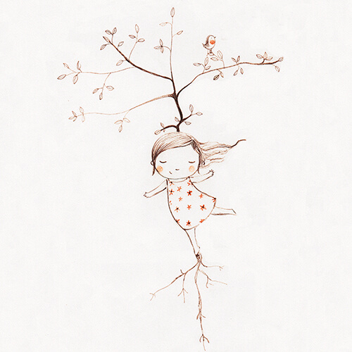 Matilde Portalés Illustration · Slow drawings · Become a tree