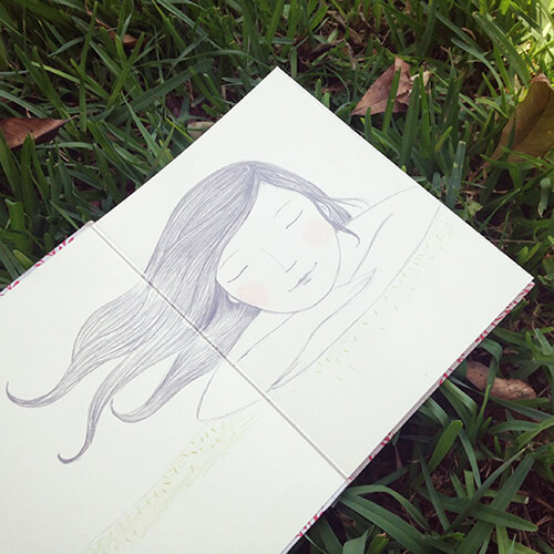 Matilde Portalés Illustration · Slow drawings · Loving slow · Grass