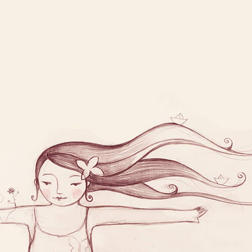 Matilde Portalés Illustration · Slow drawings · Open your arms and turn